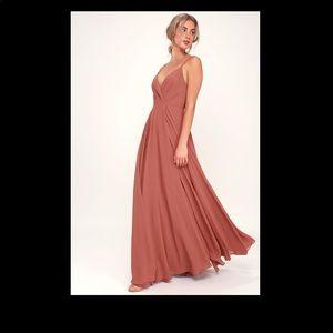 Lulu's All About Love Rusty Rose Maxi Dress